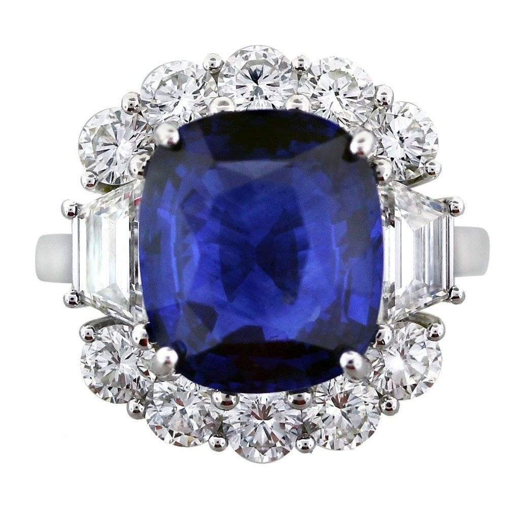 5.40ct Ceylon Sapphire and Diamond Cocktail Ring