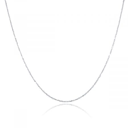 You are viewing this 14K White Gold Plain Link Chain Necklace!