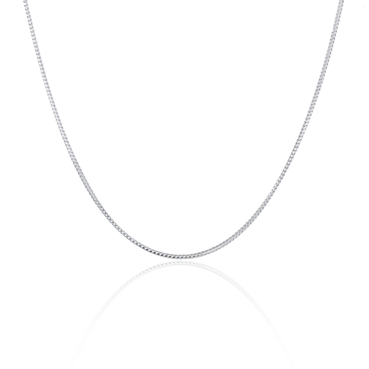 "You are viewing this 14K White Gold 16"" Franco Chain Necklace!"