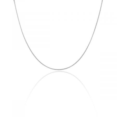 "You are viewing this 14K White Gold 20.5"" Ball Chain Necklace!"