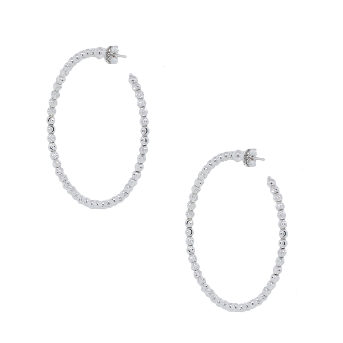Officina Bernardi SS & Platinum Rodium Earrings