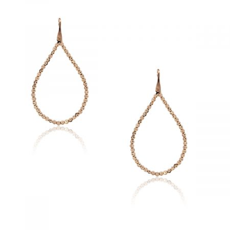 Officina Bernardi Silver & 18k Rose Gold Tear Drop Earrings!