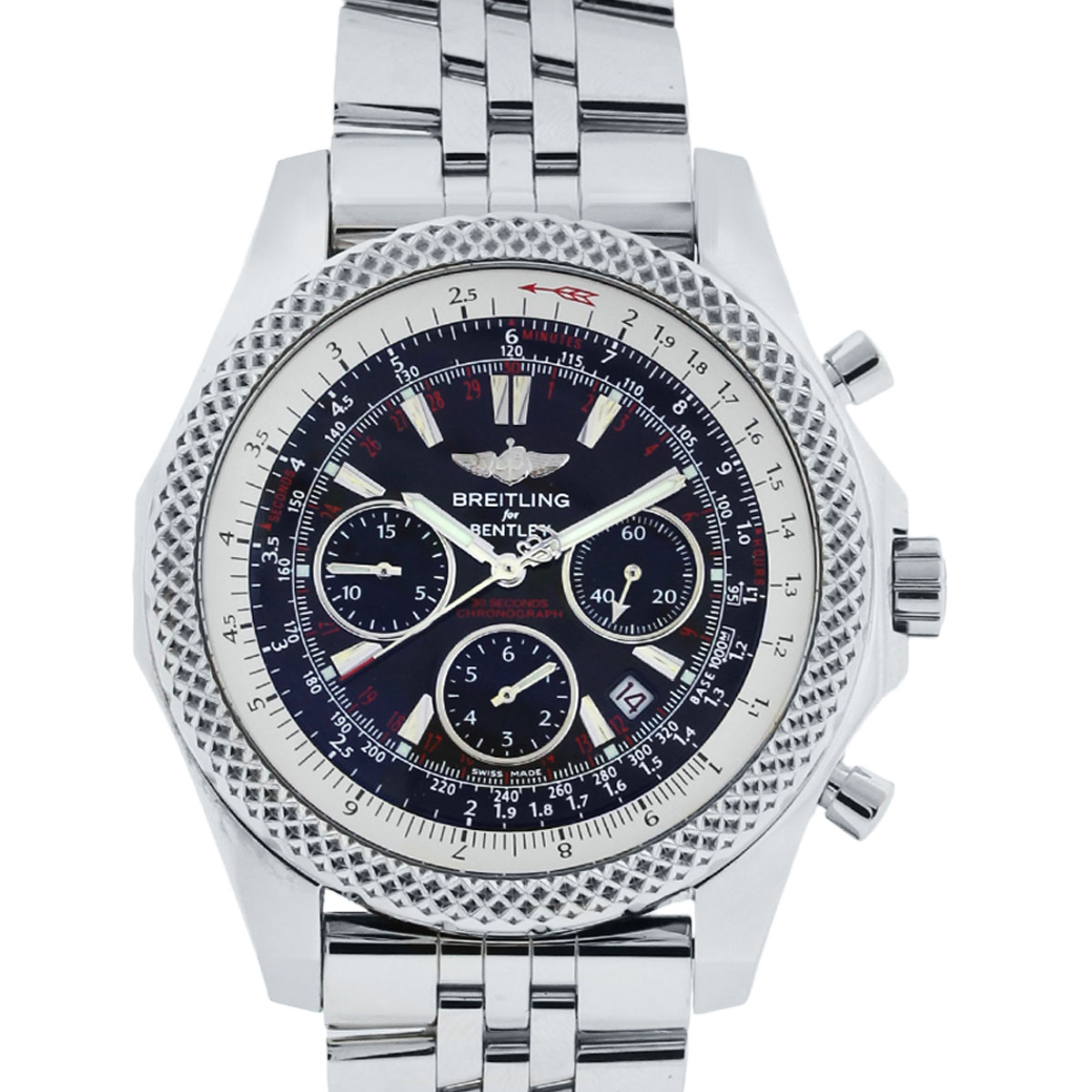breitling for bentley a25364 stainless steel black dial watch. Black Bedroom Furniture Sets. Home Design Ideas