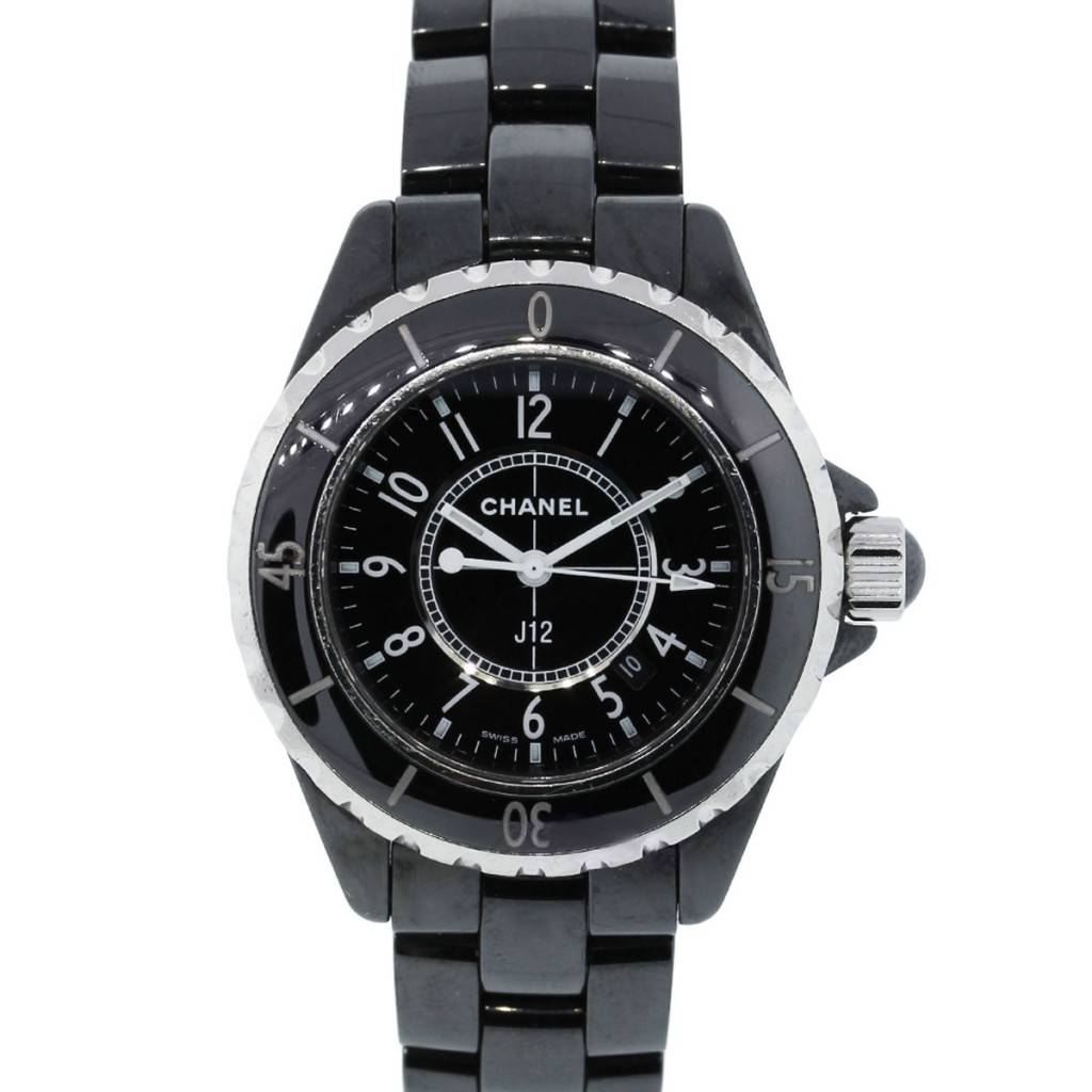 Chanel J12 H0968 Black Ceramic Ladies Quartz Watch d9f8ab110fae