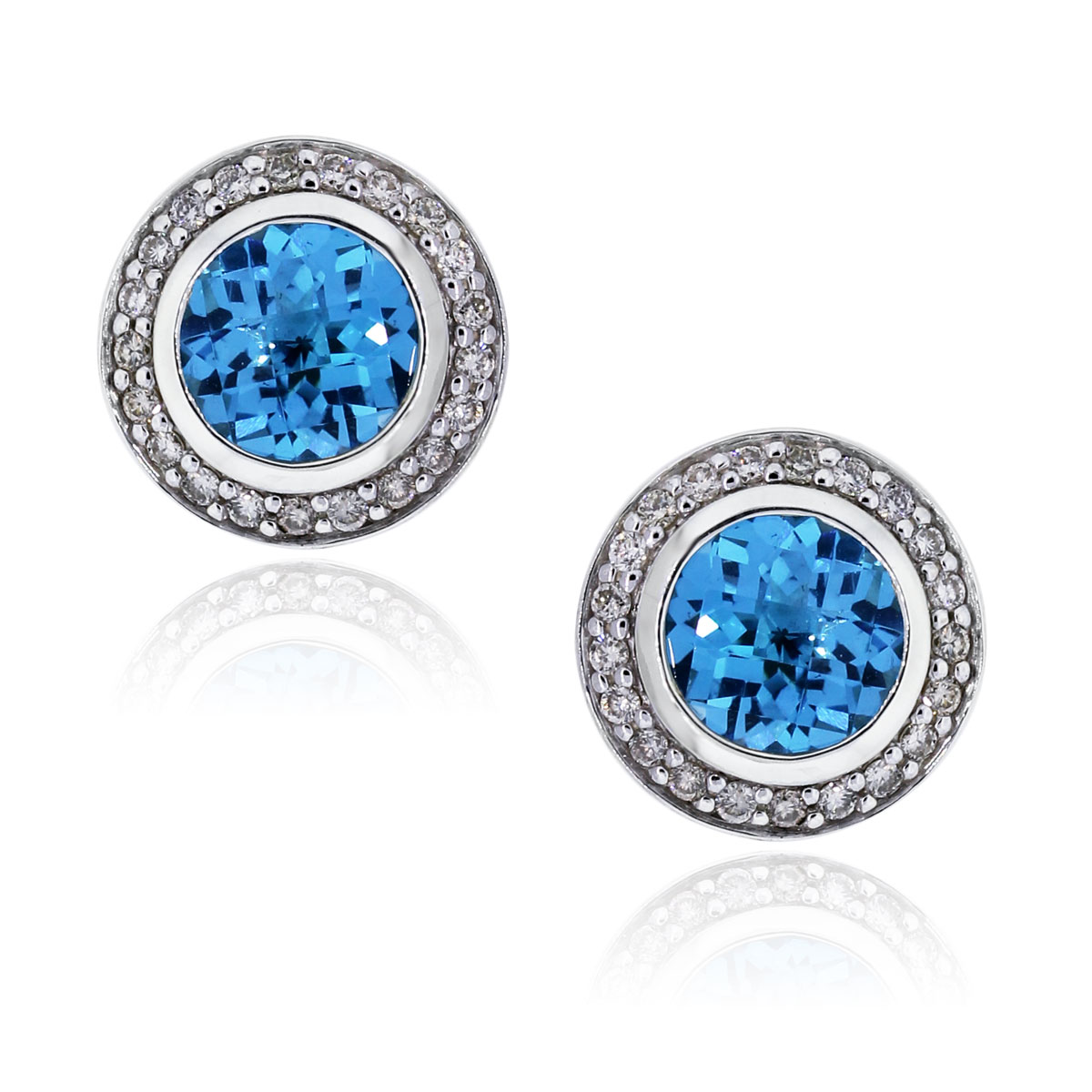 You are viewing these David Yurman Silver Blue Topaz Diamond Cerise Earrings!