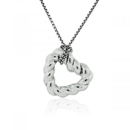 You are viewing this David Yurman Cable Heart Pendant Sterling Silver Necklace!