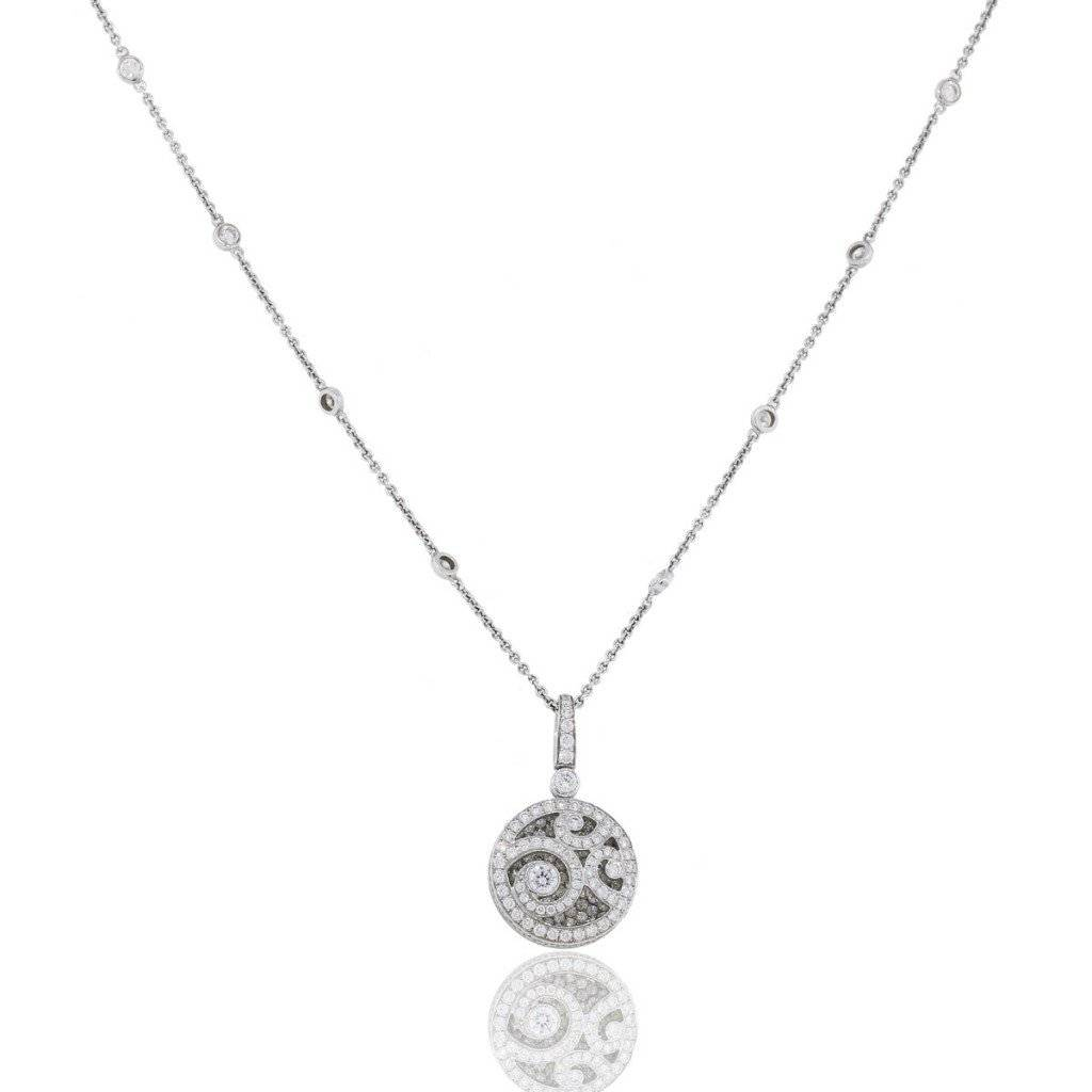 Graff 18kt white gold and diamond pendant