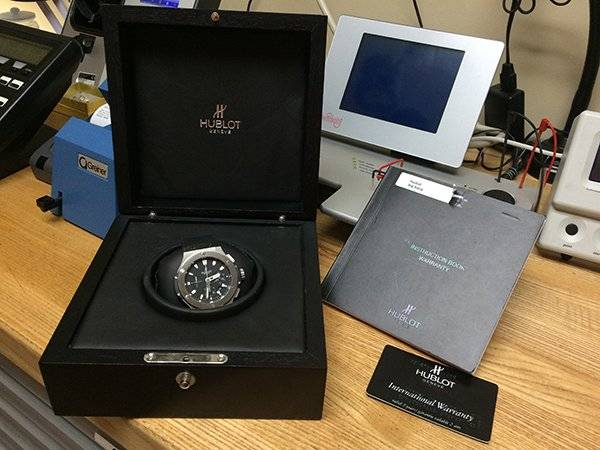 Hublot with Box and Papers