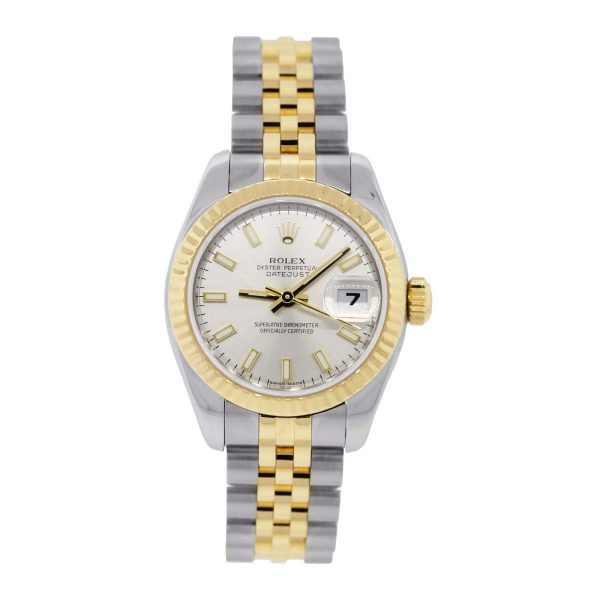 Rolex Datejust 179173 Two Tone Silver Dial Watch