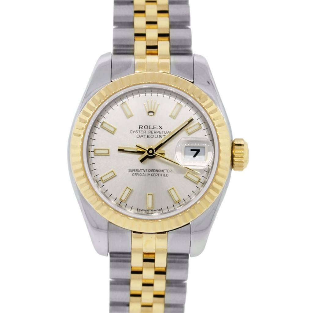You are viewing this Rolex Datejust 179173 Two Tone Silver Dial Ladies Watch!