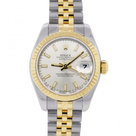 Rolex Datejust 179173 Two Tone Silver Dial Ladies Watch