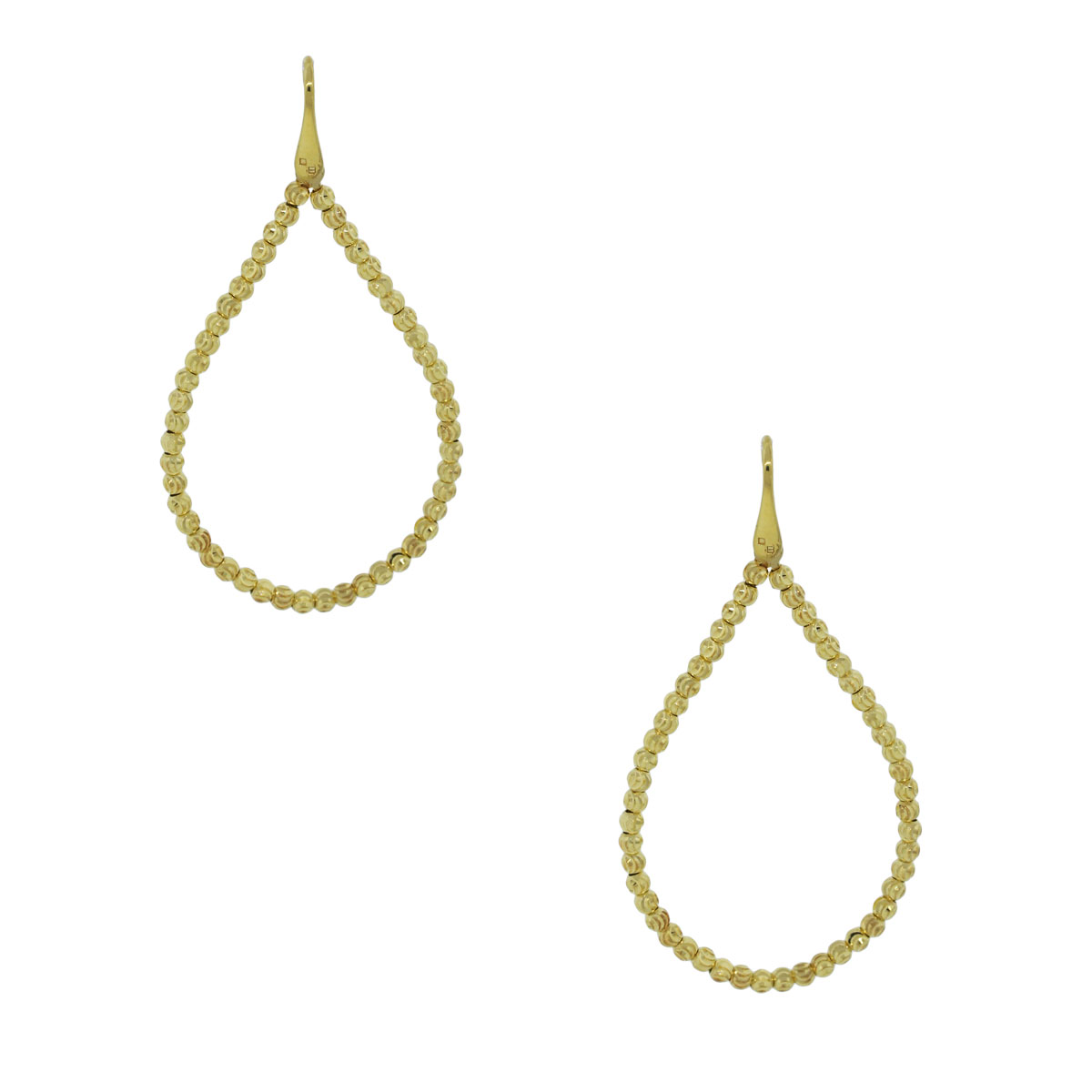 Officina Bernardi SS & 18k Gold Rodium Tear Earrings