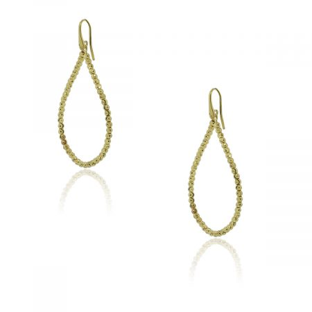 Officina Bernardi SS & 18k Gold Rodium Tear Drop Earrings!