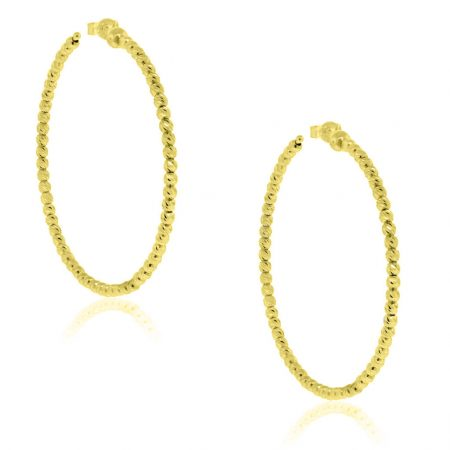 Officina Bernardi SS & 18k Yellow Gold Hoop Earrings!