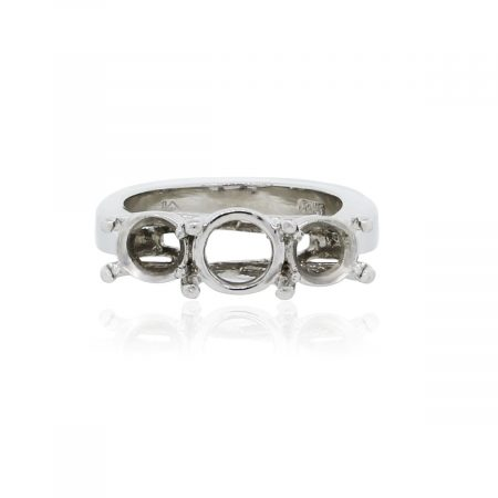 You are viewing this Platinum 3 Head Engagement Ring Mounting!