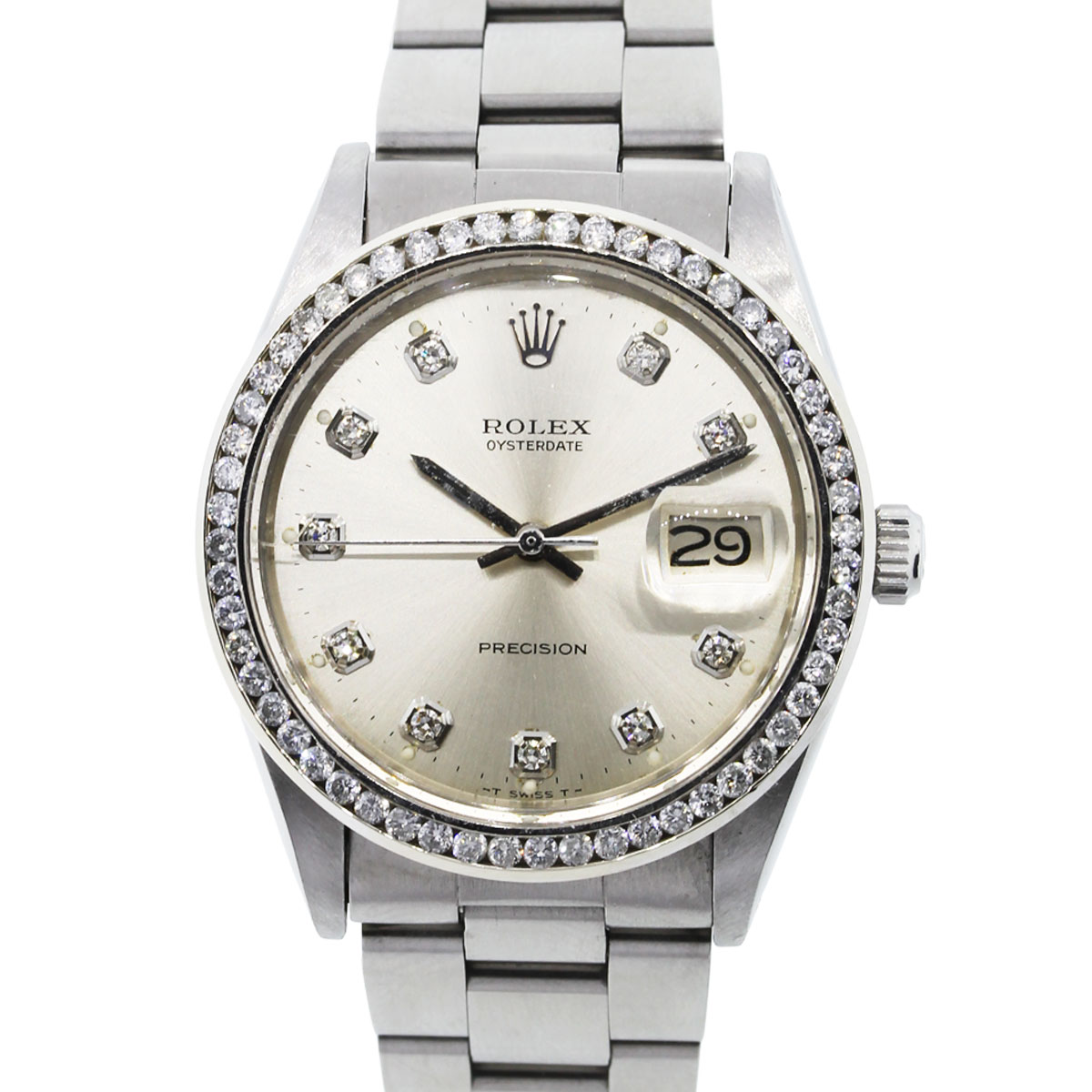 You are viewing this Rolex Oysterdate Precision Diamond Dial & Bezel Watch!