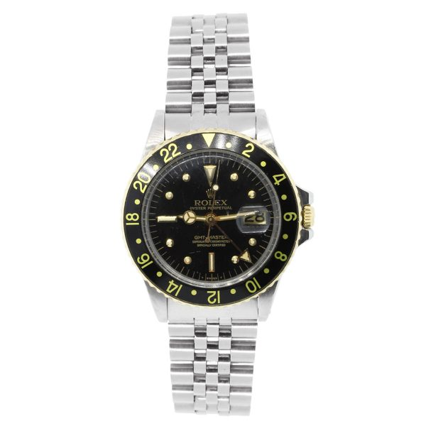 Rolex 1675 GMT Two Tone Black Dial Watch