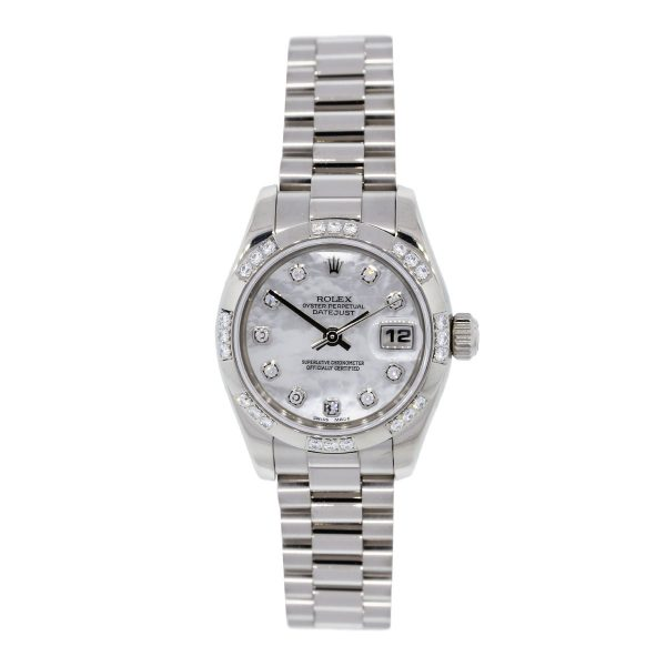Rolex Datejust White Gold Mother of Pearl Watch