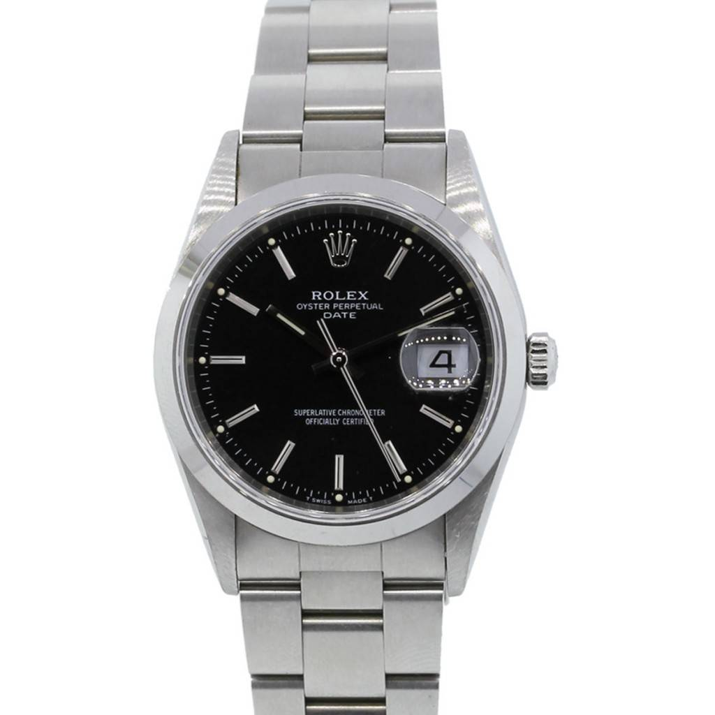5f49f20c3b0c Rolex 15200 Date Stainless Steel Black Dial Gents Watch