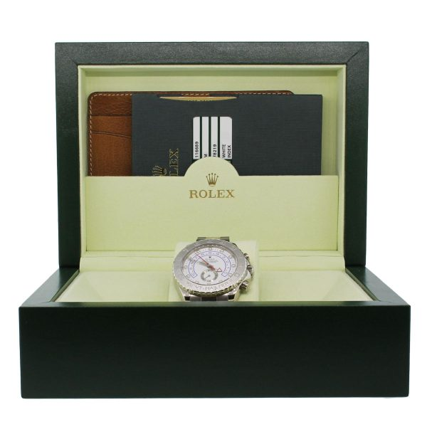 Rolex 116689 Yachtmaster II 18k White Gold Watch box and papers