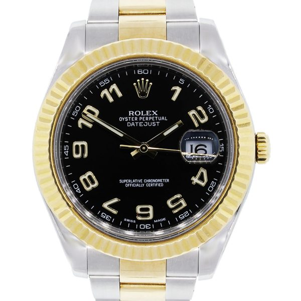 You are viewing this Rolex 116333 Datejust II Arabic Black Dial TT Watch!