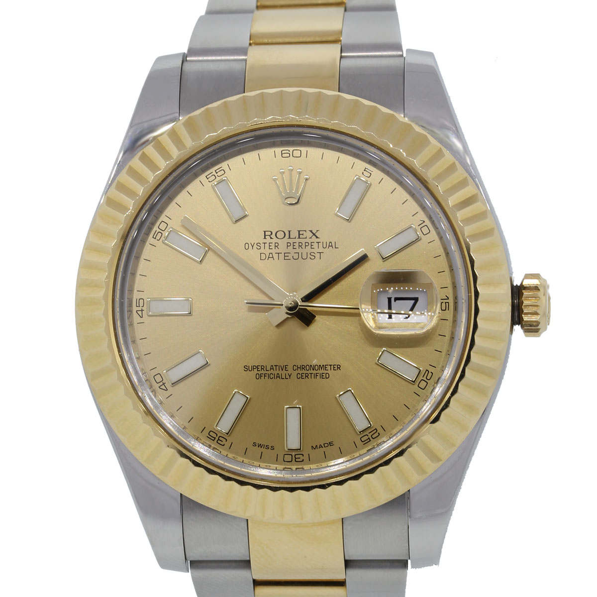 You are viewing this Rolex 116333 Datejust II Gold Dial TT Watch!