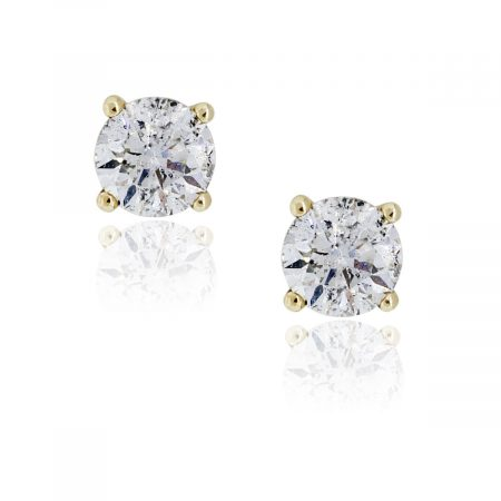 You are viewing this 14K Yellow Gold .76ctw Diamond Stud Earrings!