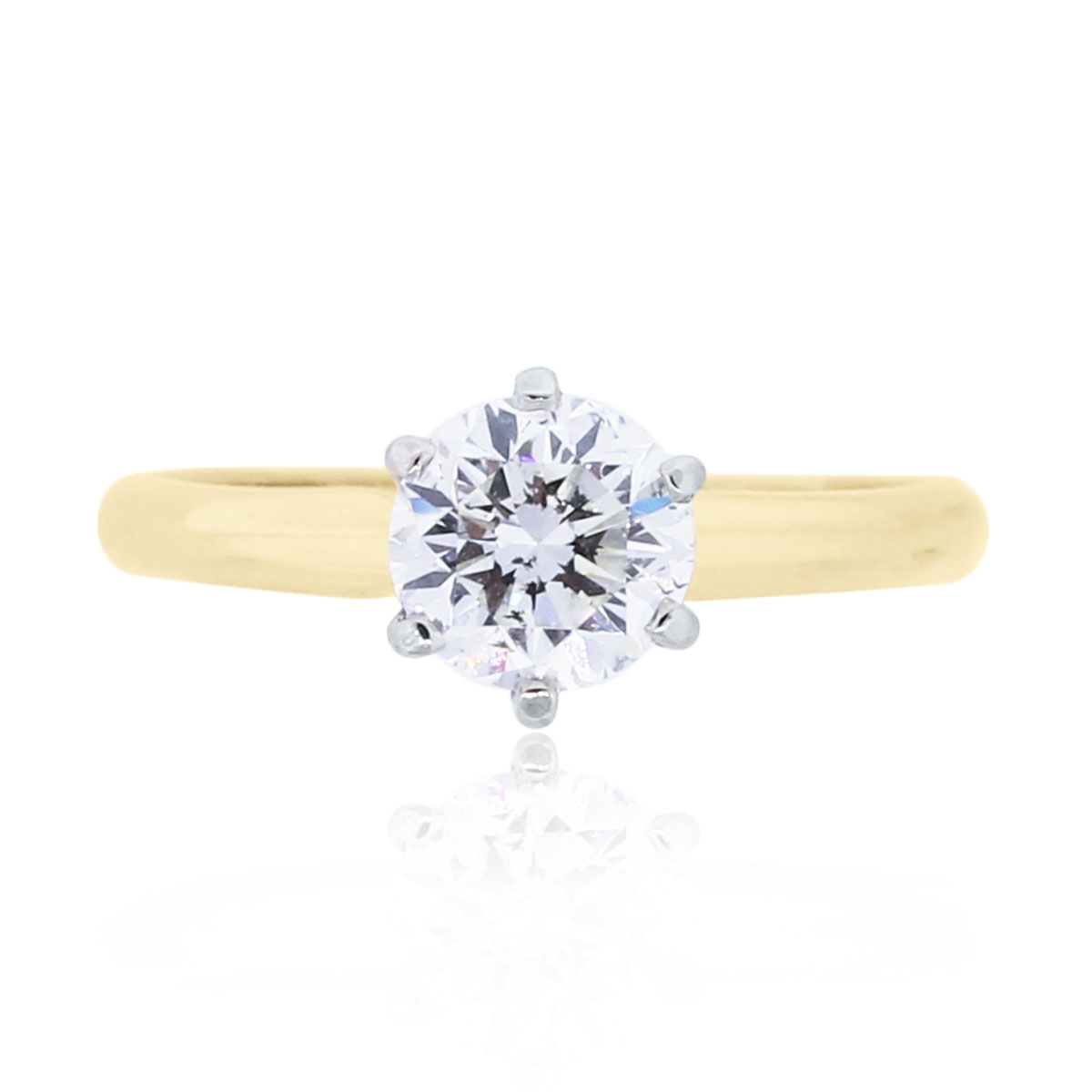 You are viewing this 18k Yellow Gold 1.01ct Round Brilliant Diamond Ring!