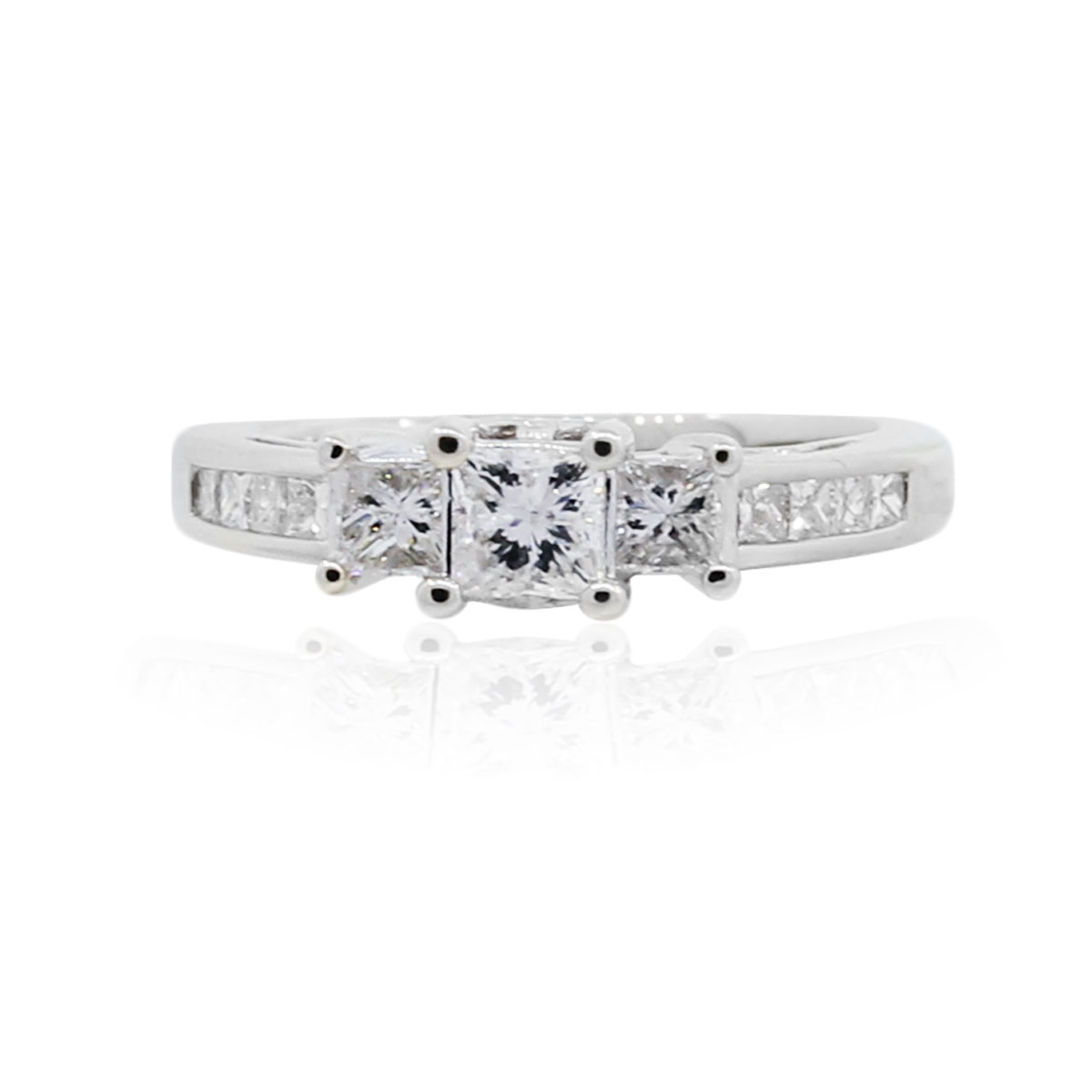 You are viewing this 14k 1ctw Princess Cut Diamond Engagement Ring!
