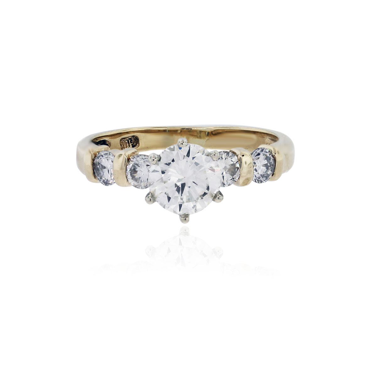 You are viewing this 1.31ctw Diamond 14k Yellow Gold Engagement Ring!