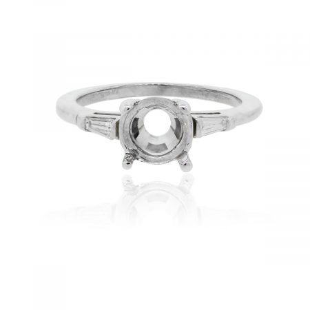 You are viewing this 14k White Gold Baguette Diamond .15ctw Mounting!