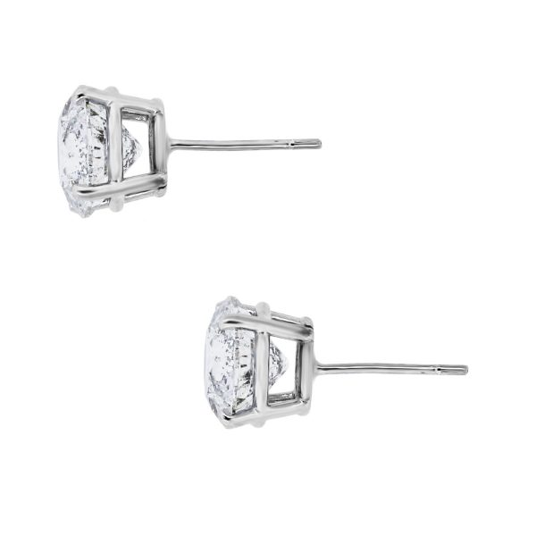 14k White Gold 6.24ctw Diamond Earrings