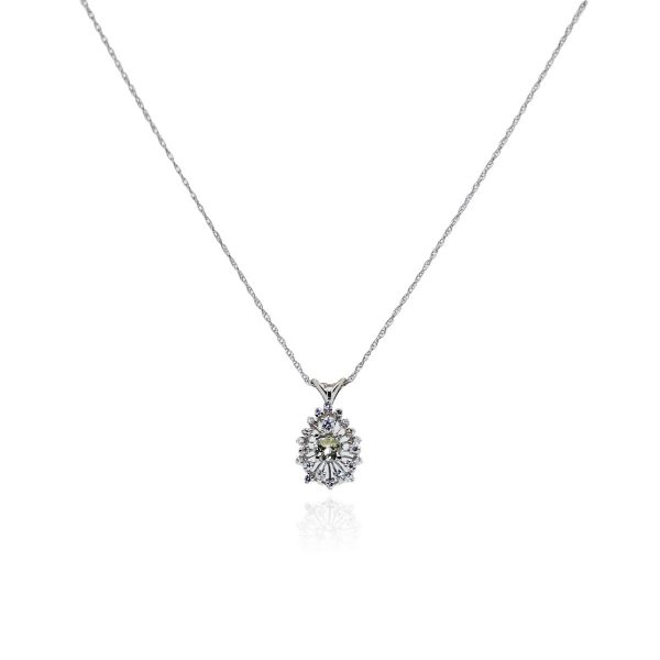 You are viewing this 14k White Gold .85ctw Diamond Pendant!