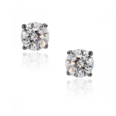You are viewing these 14K White Gold .72ctw Diamond Stud Earrings