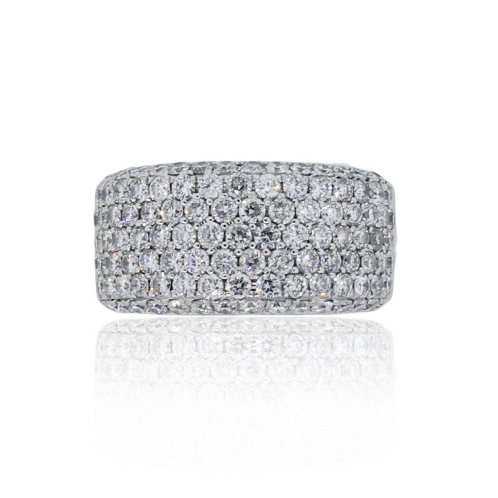 14k white gold 2ctw pave band ring