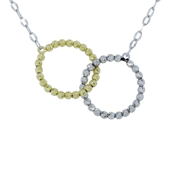"""Officina Bernardi Silver and Yellow 34"""" Necklace"""