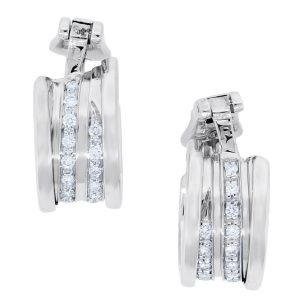You are viewing these You are viewing this Bulgari 18k White Gold B.Zero1 Diamond Earrings!