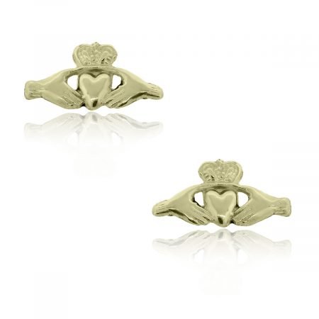 You are viewing this Yellow Gold Claddagh Cufflinks!