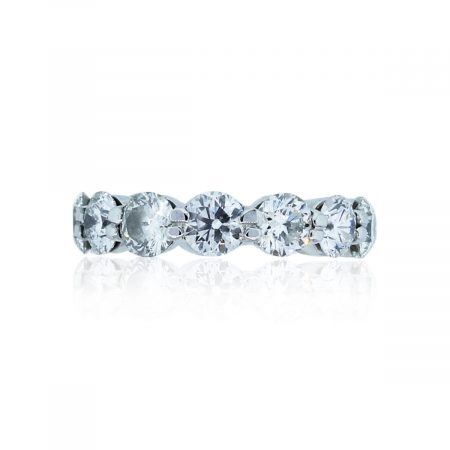 You are viewing this Platinum 5ctw Diamond Round Brilliant Eternity Band Ring!
