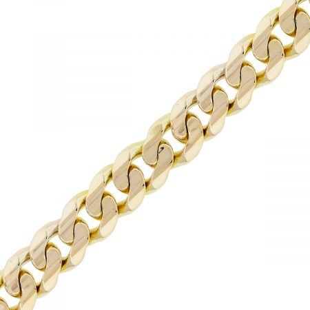 You are viewing this 14k Yellow Gold Curb Link Gents Bracelet!