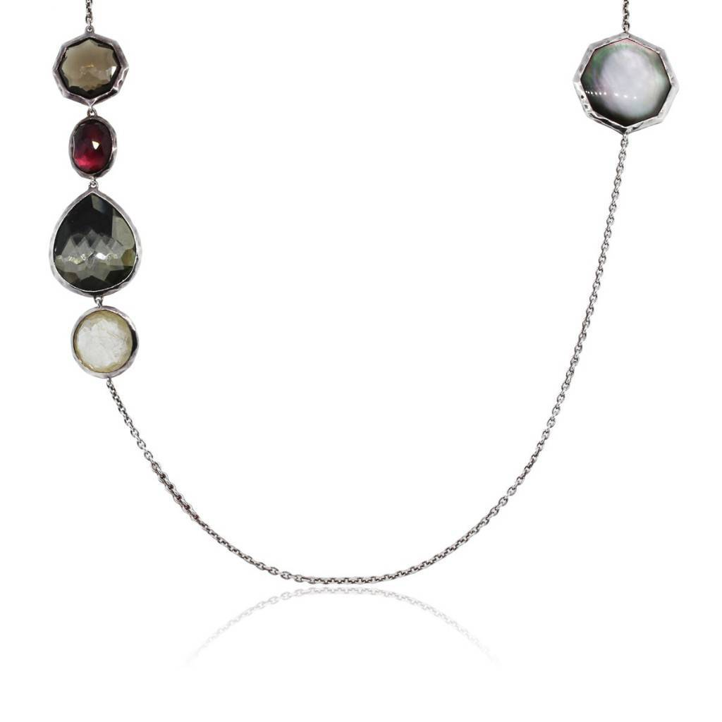 Estate Ippolita Wonderland necklace with a touch of Marsala.