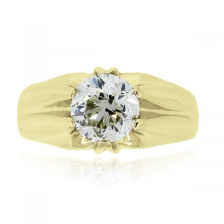 You are viewing this 14k Yellow Gold 2.39ct Round Brilliant Gents Diamond Ring!