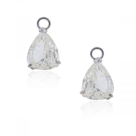 You are viewing this 14k White Gold Pear Shaped Diamonds Earring Jackets