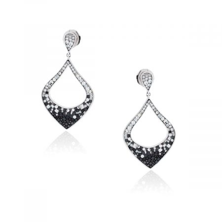 You are viewing this Pleve 18k Ombre 4ctw Diamond Harp Earrings!