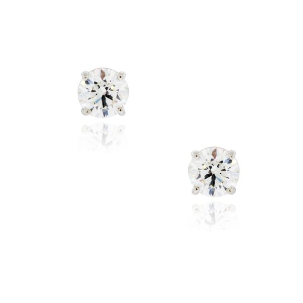 You are viewing these 2.64ctw Round Brilliant Diamond Stud Earrings