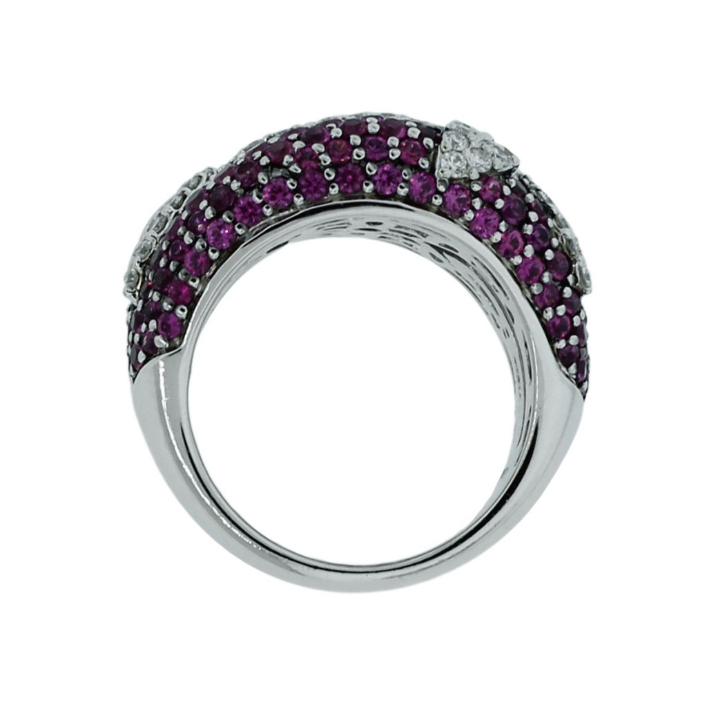 roberto coin 18k white gold pink sapphire ring