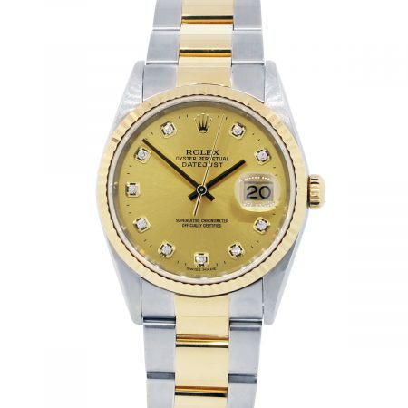 You are viewing this Rolex Datejust 16233 Champagne Dial Watch!
