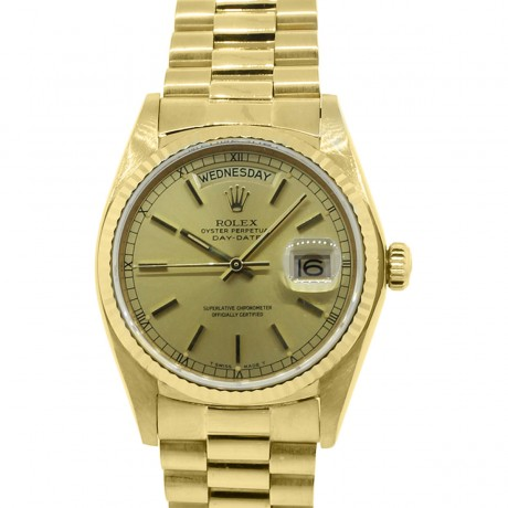 Rolex Day-Date 18038 18k Yellow Gold Presidential Watch