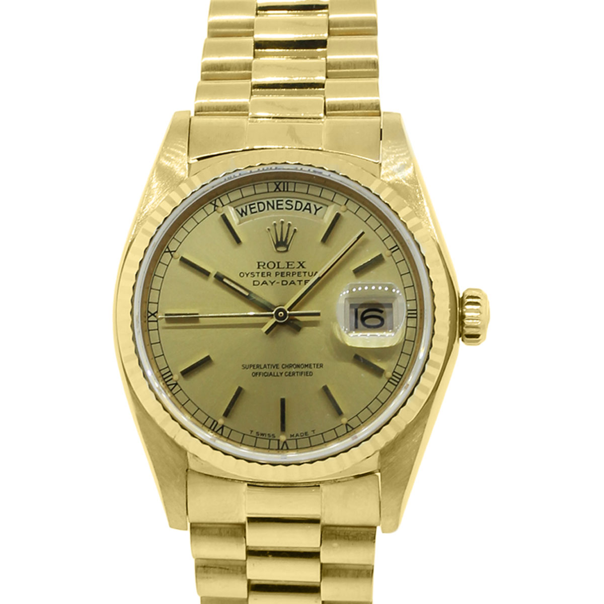 You are viewing this Rolex Day-Date 18038 18k Yellow Gold Presidential Watch!