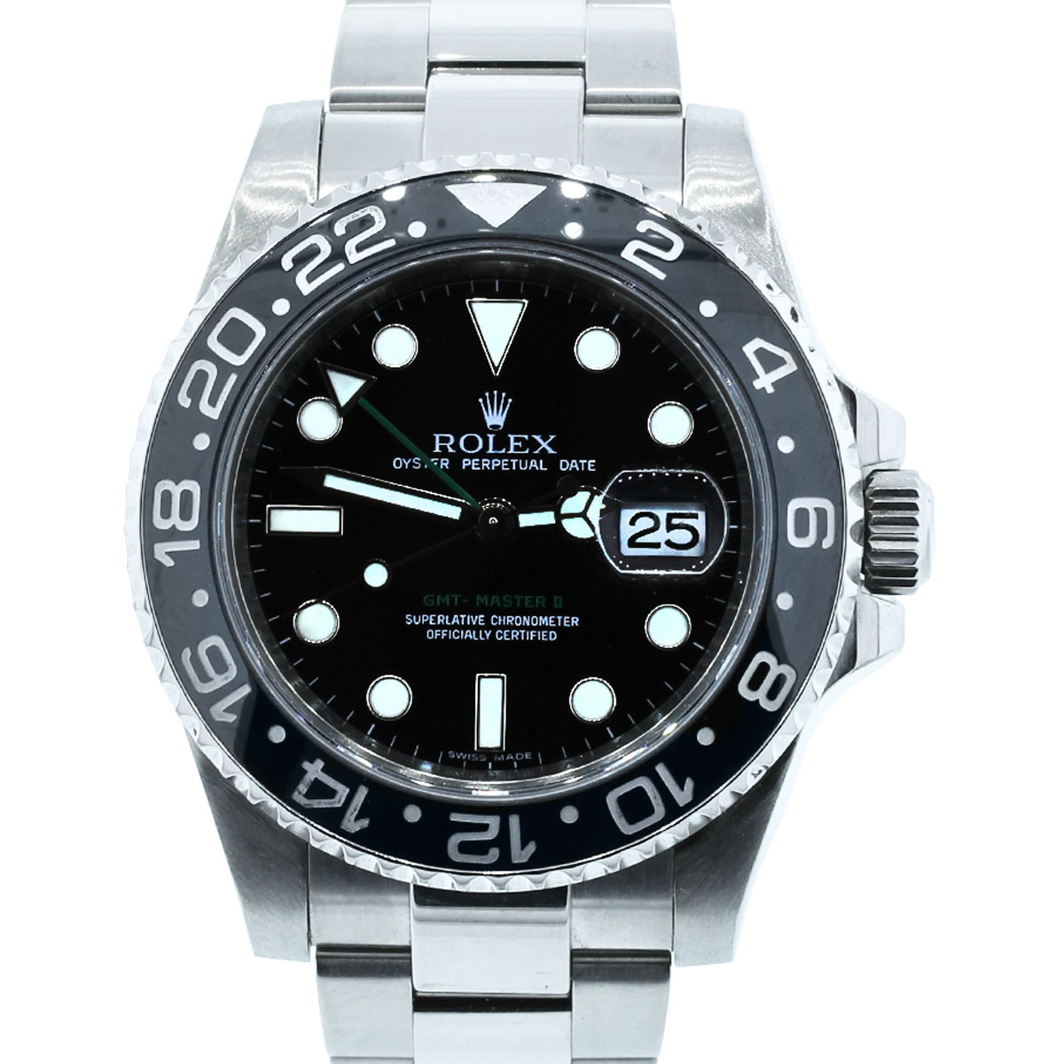 You are viewing this Rolex GMT Master II 116710 Steel Ceramic Bezel Watch!
